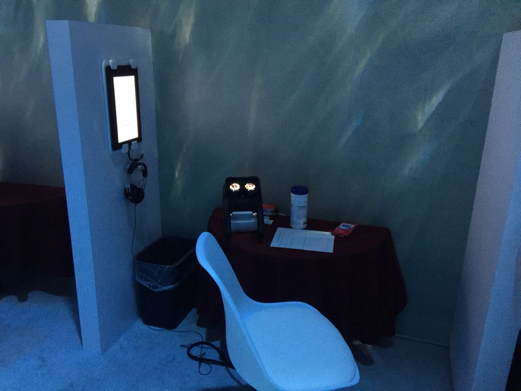 The Canon VR Headset Testing Booth at CanonExpo 2015